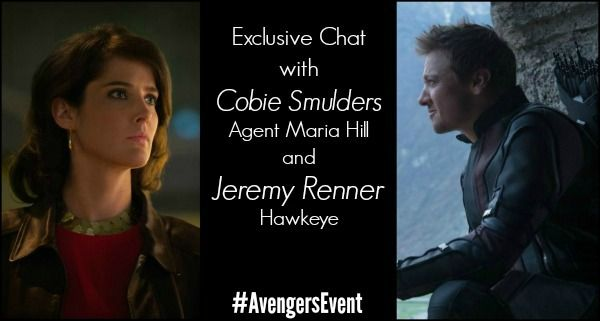 Exclusive Chat with Cobie Smulders (Agent Maria Hill) & Jeremy Renner (Hawkeye) ~ #AvengersEvent