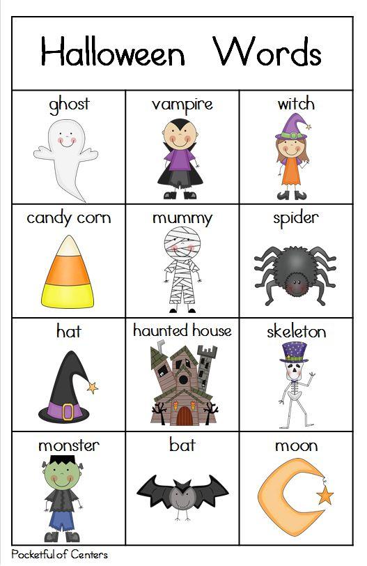 Halloween Writing Center Mini Packet