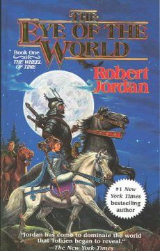 The Eye of the world by Robert Jordan. Click the cover image to check out or request the science fiction and fantasy kindle.