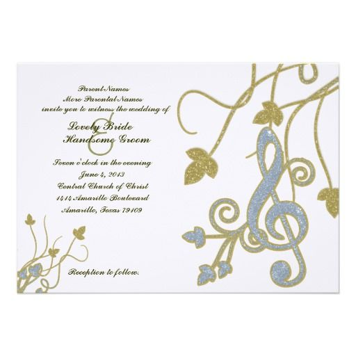 21 best Music Themed Wedding Invitations images on Pinterest Music