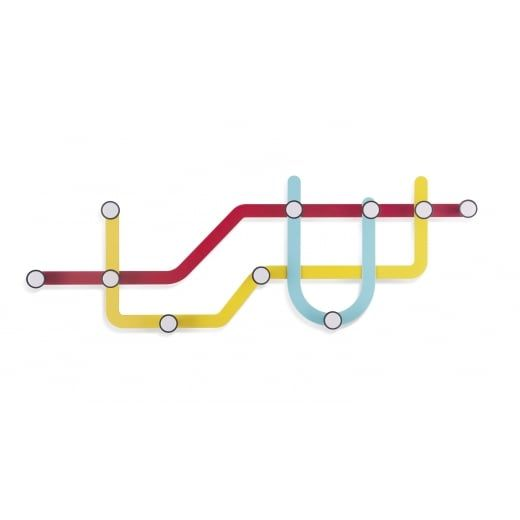 Umbra Subway Multi Coat Hook - Multi Coloured