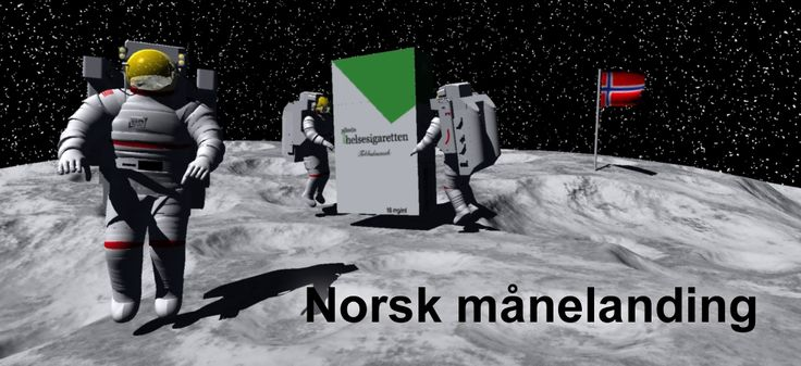 Endelig har Norge landet på månen – reklame for Helsesigaretten elektronisk sigarett