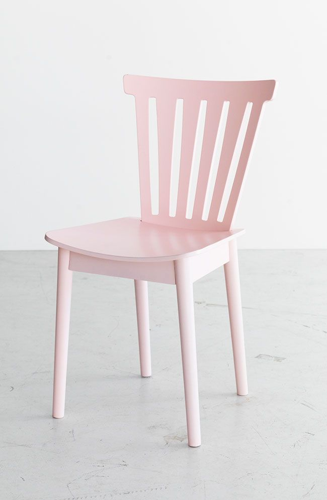 Pastel pink wooden chair ikea new collection the for Chaises de cuisine ikea