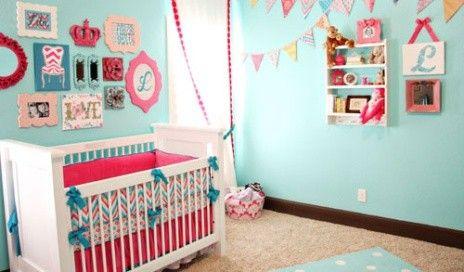 Quarto de bebê pink e azul piscina   Quarto de bebê - Decoração, bebês, gravidez e festa infantil