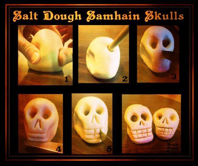 Salt Dough Samhain Skulls