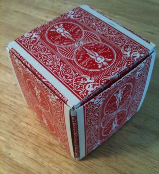 Super Awesome  How to Make a Gift Box Out of Playing Cards by Ron Jaxon  An interesting use for old playing cards.