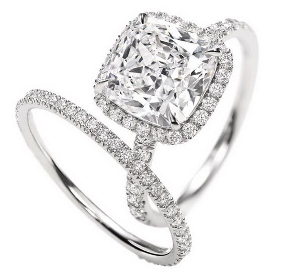 ...doesn't have to be this brand but..... it is perfect...Harry Winston Engagement Ring