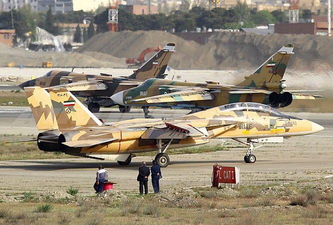 An Iranian Air Force Grumman F-14AM Tomcat.