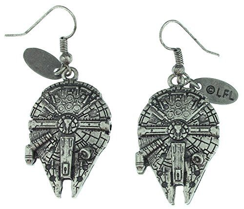 Star Wars Millennium Falcon 3D Dangle Earrings //Price: $11.95 & FREE Shipping //     #starwarscollection