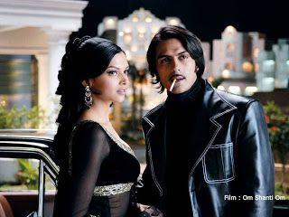 Shanti (Deepika Padukone) and Mike Mehra (Arjun Rampal) in Om Shanti Om (2007)