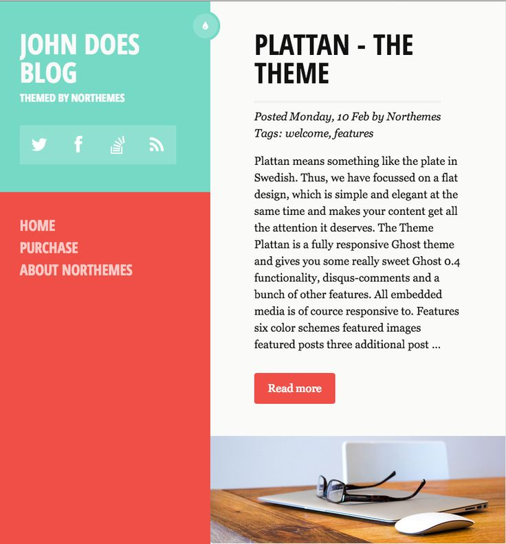 plattan theme - flat design