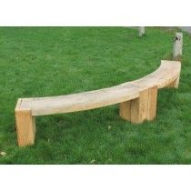 Solid English Oak Curved Bench