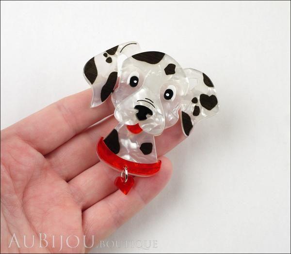 Erstwilder Dalmatian Dog Brooch Pin Model