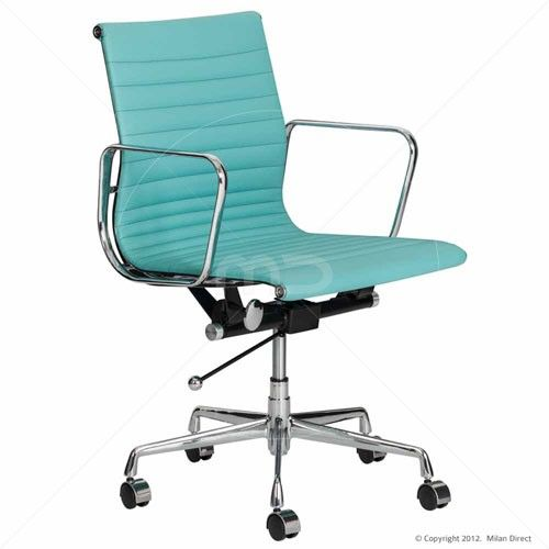 management office chair eames reproduction aqua. Black Bedroom Furniture Sets. Home Design Ideas