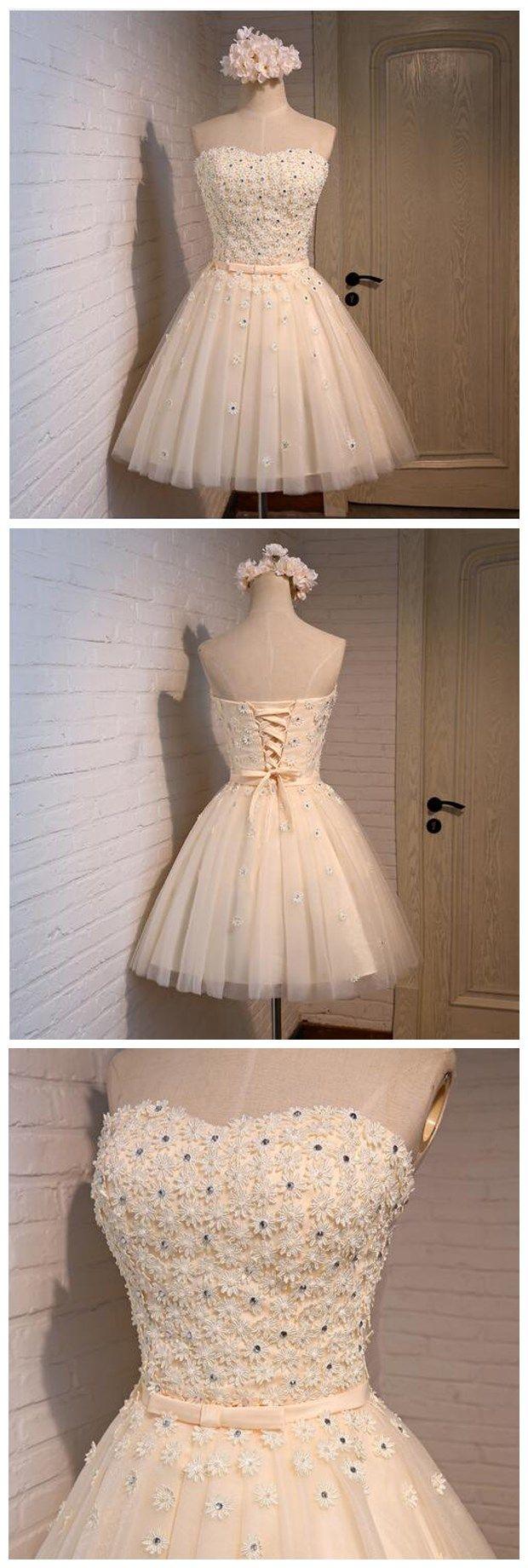 Short Homecoming Dress ,tulle Homec