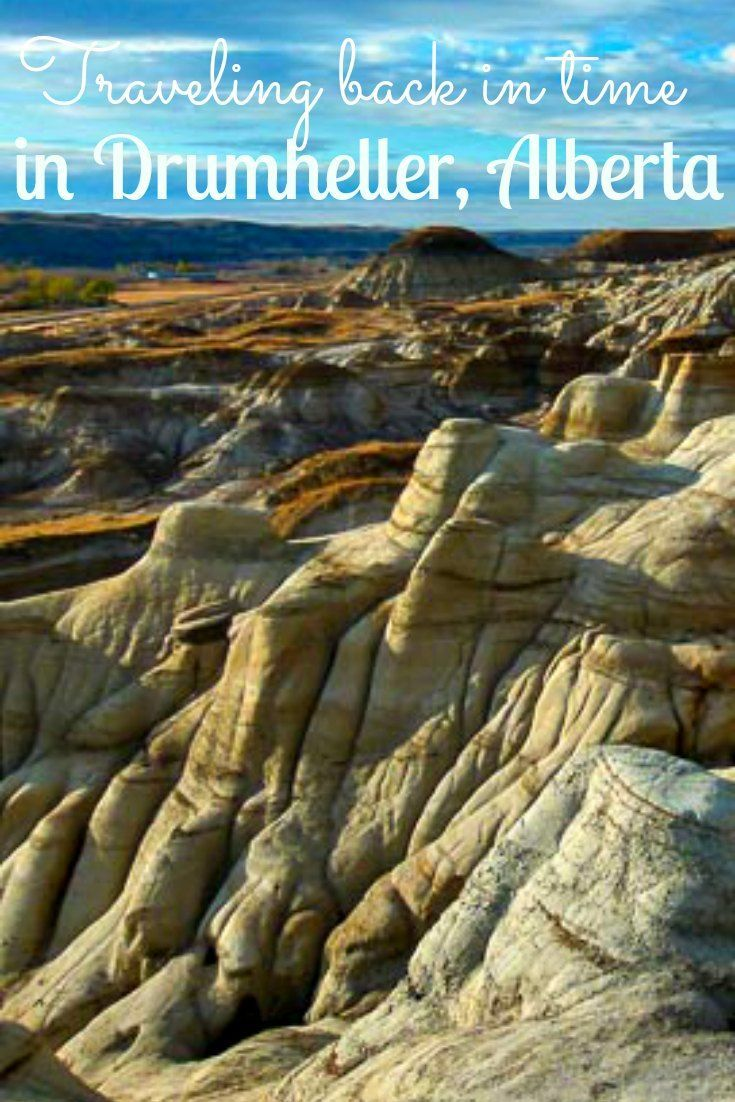 The small town of Drumheller in Alberta has a unique charm. It might make you feel as if you stepped into a western movie with its surrounding canyons.Very different landscape from what you can usually see in Canada.: