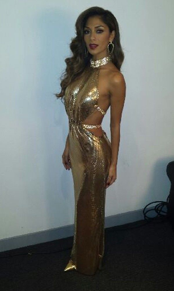 Nicole Scherzinger gold dress ❤♔Life, likes and style of Creole-Belle ♥