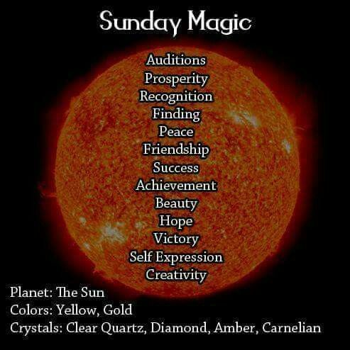 Magick Spells:  Sunday #Magic.