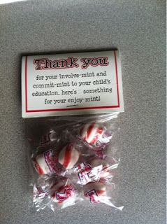 Meet-the-Teacher Night ideaparent gift on student desks (use mints ...