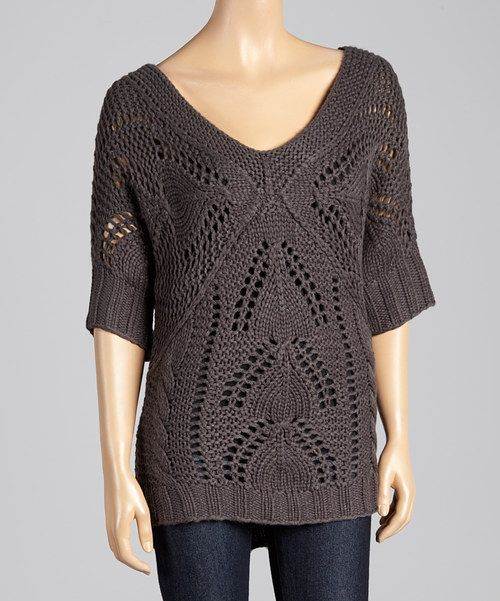 This Charcoal Cable Knit Dolman Sweater by Andrée is perfect! #zulilyfinds