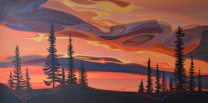 Fire sky | Erica Hawkes | The Artym Gallery