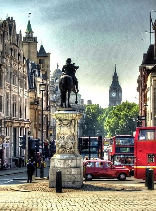 Statue of Charles I, Whitehall, London.