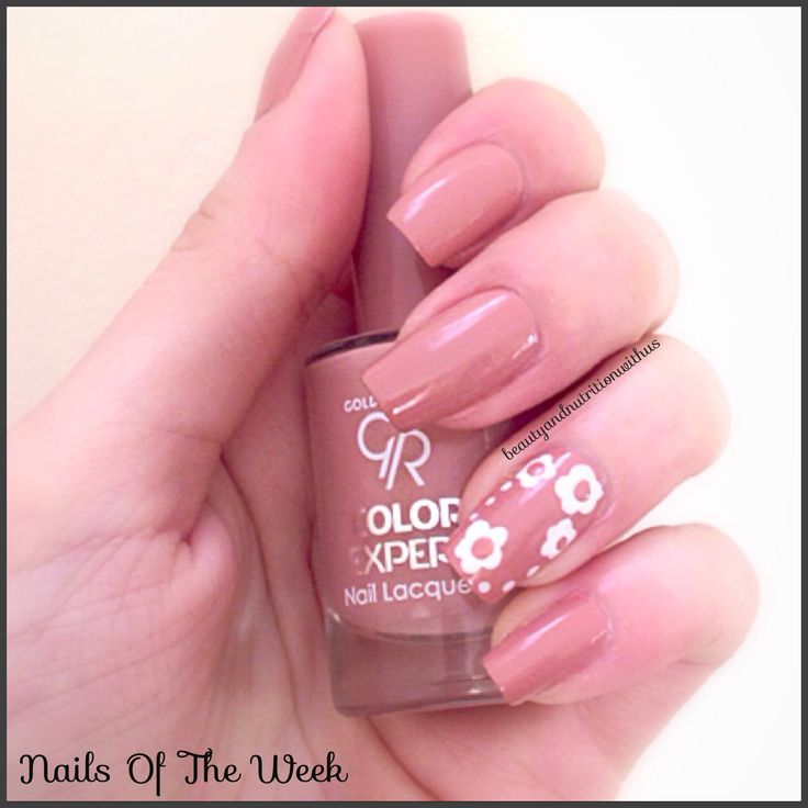 Nails Of The Week!!!Nude,flower nails,golden rose