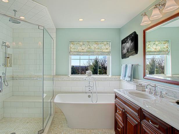 Bathroom Retreat With TV and Soaking Tub | HGTV.com http://www.hgtv.com/bathrooms/bathroom-retreat-with-tv-and-soaking-tub/pictures/index.html