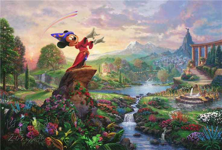 Find More Painting & Calligraphy Information about Thomas Kinkade Oil Paintings Fantasia Art Decor Painting Print Giclee Art Print On Canvas Framed,High Quality canva,China painting art canvas Suppliers, Cheap canvas abstract painting from Eazilife Oil Painting on Aliexpress.com