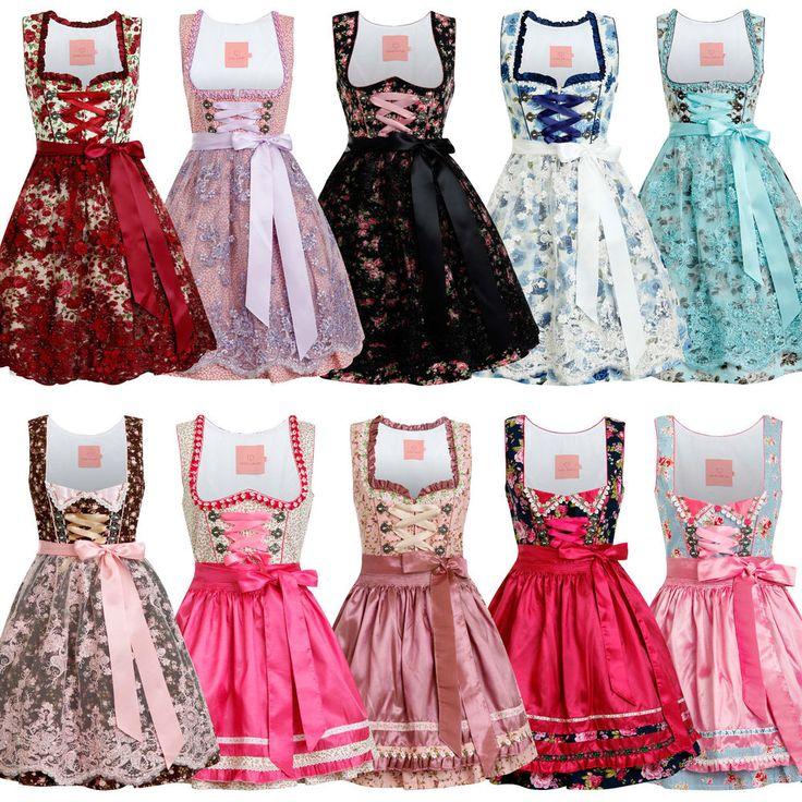 NEU ENGEL DIRNDL Designer Trachtenkleid & Schürze Oktoberfest 34 36 38 40 42 44 in Kleidung & Accessoires, Damenmode, Trachtenmode | eBay! | S❤