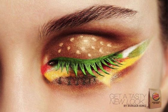 There's a Whooper in your eye! Mmmm...: New Looks, Eye Makeup, Eye Shadows, Eyeshadows, Eyemakeup, Fast Food, Burgers King, Burger Kings