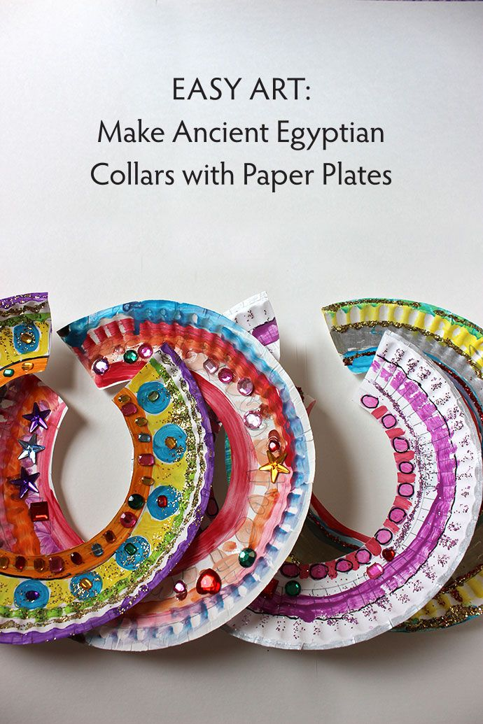 Children will learn about ancient Egypt while making their own decorative collar.