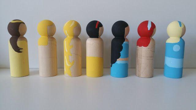Wooden Peg Doll Princesses Tutorial