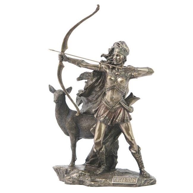 Sculpture Ancient Goddess Diana Artemis Hirsch Hunter Figure Frau Statue Veronese