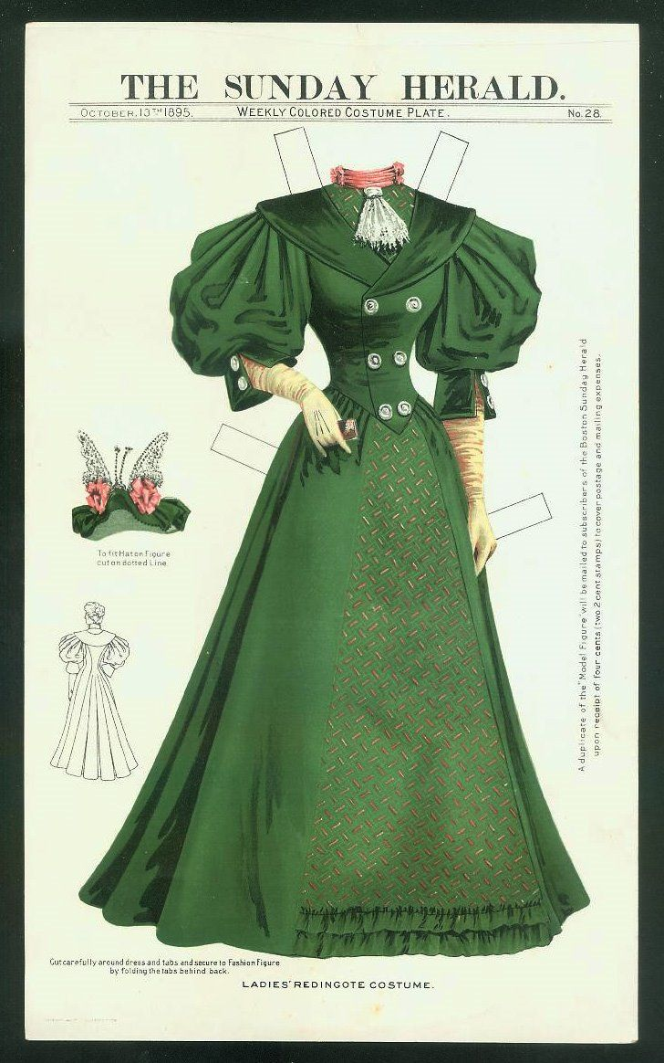 The Sunday Herald Paper Doll - October 13, 1895