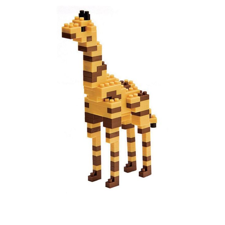 Girafe - Nano Blocks are a bit like LEGO, but hipper and very stylish! They are smaller and have cute and trendy shapes: musical instruments, wild animals, famous people and even historic monuments from all over the worlds are part of the Nano Block collection. These Nano Blocks will take you back to your childhood so donøt wait, let your imagination run wild!