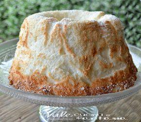 Angel cake al limone torta di soli albumi