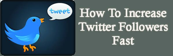 How To Increase Twitter Followers Fast