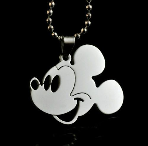 Fashion jewelry Mickey Mouse Head Pendant 316L Stainless Steel Necklaces Gift #Unbranded #MickeyMouse
