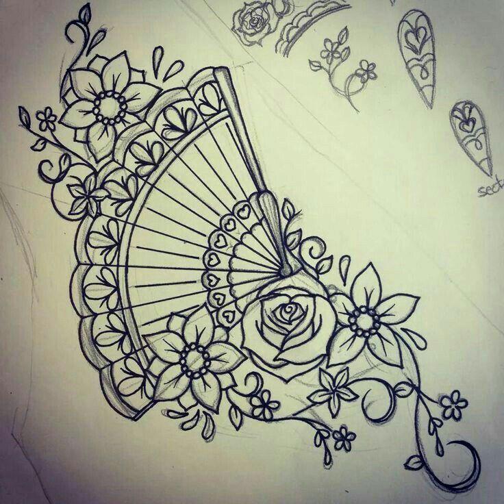 Ventaglio e fiori... bellissima idea x tattoo
