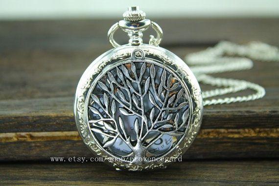 collar reloj de bolsillo bronce antiguo en regalo de mens plata joyas moda vintage steampunk