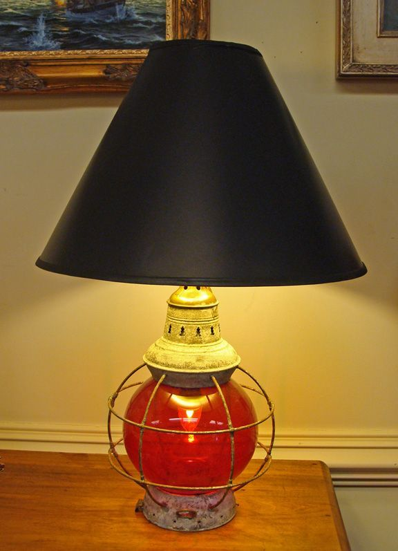 Hurricane Globe Table Lamp