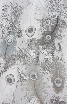 Grey and white, think tonal, inverted tones, organic detailing, just about the detail and nothing else.