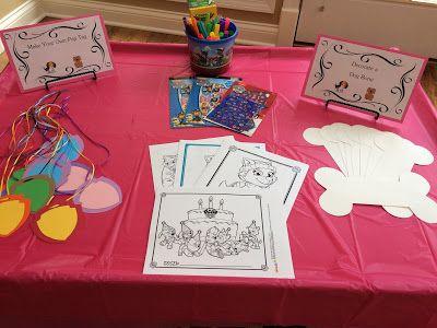 Arts & Crafts Station - Paw Patrol Birthday Party