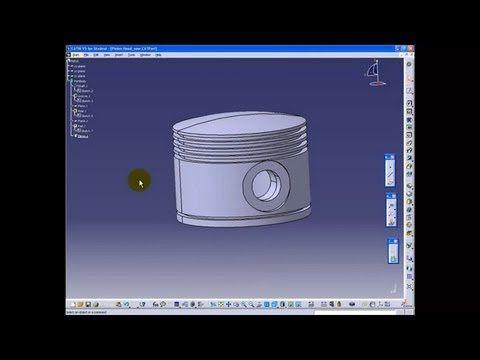 CATIA V5 Tutorial Beginner - 1   Part Design   Radial Engine - YouTube