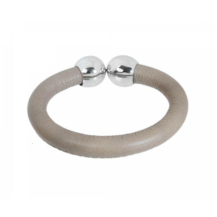 Ladies leather Pulsera napa beige bangles - Vanderly
