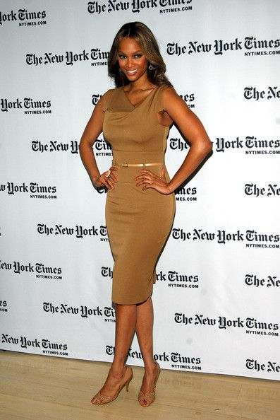 Tyra Banks Photo - Black Halo Jackie O dress 2