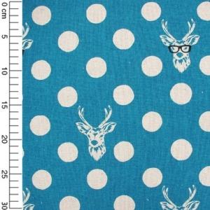 Fabric Decoro - Buck Blue x10cm