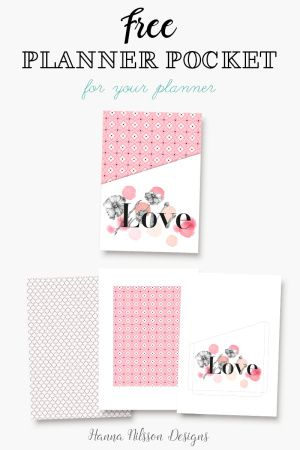 Add prettyness and storage to your planner with this FREE printable planner pocket.