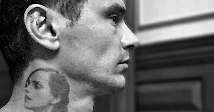 James Franco Shows Off Emma Watson Neck Tattoo -- James Franco just got a neck tattoo of former co-star Emma Watson, but don't worry, it's temporary. -- http://movieweb.com/james-franco-emma-watson-neck-tattoo/